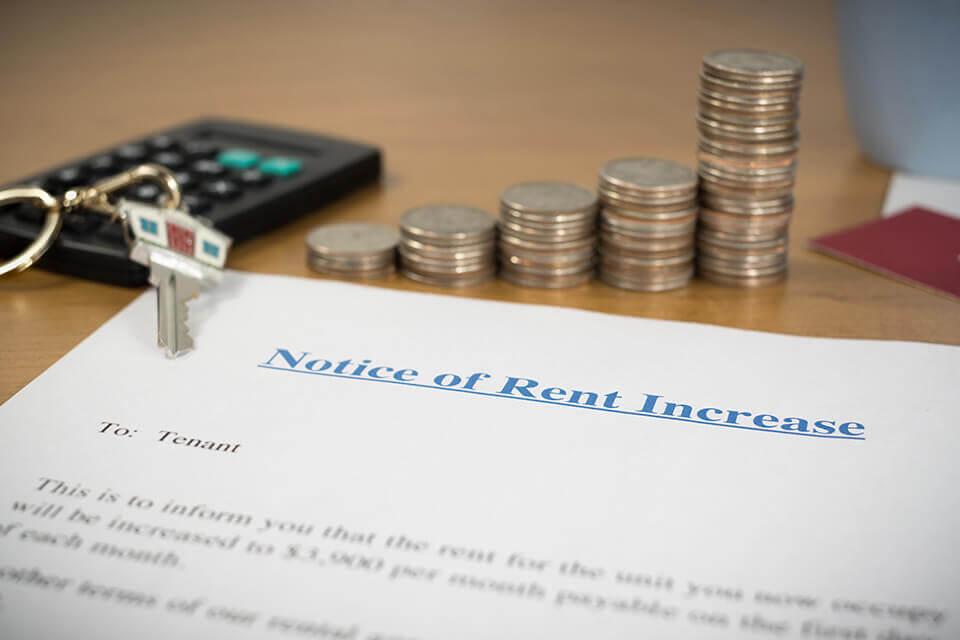 A rent increase notice