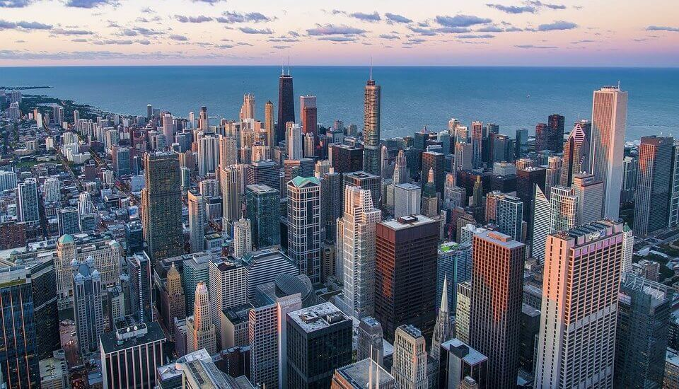 If you move cross country to Chicago, you can see the city's famous buildings