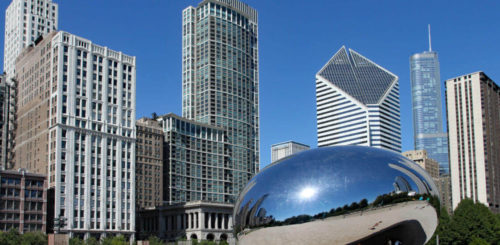 If you move long distance to Chicago, you can visit the city's Cloud Gate