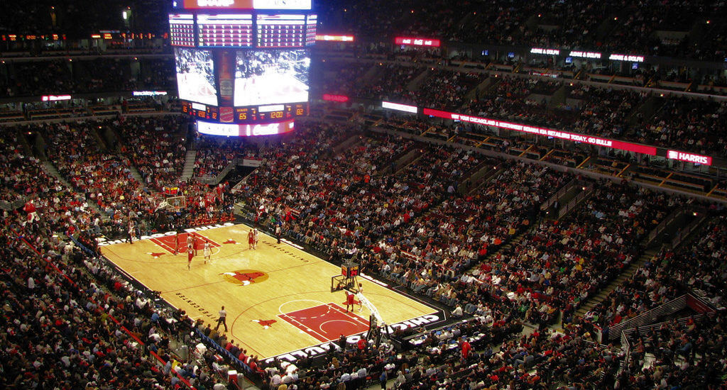If you move cross country to Chicago, you can visit basketball stadium